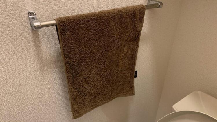 トイレにある手洗い用のタオル