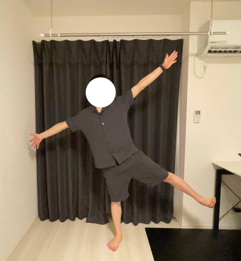 GUのオーガニックコットンパジャマ着用例