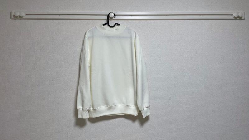 GUのスウェットモックネックシャツ