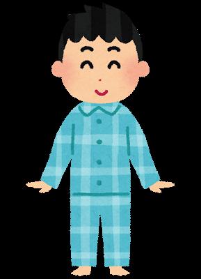 パジャマを着ている男の子