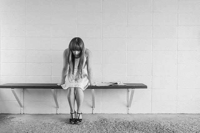 うつ病の女の子