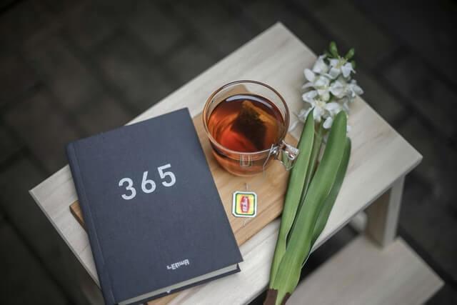 365と書かれたノート